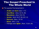 the gospel preached in the whole world58