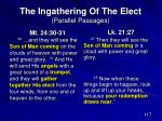 the ingathering of the elect parallel passages