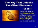 the key that unlocks the olivet discourse