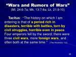 wars and rumors of wars mt 24 6 7a mk 13 7 8a lk 21 9 1024