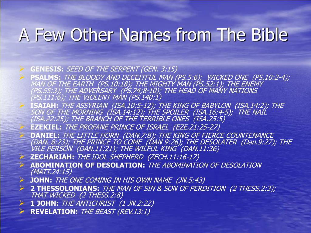 A Few Other Names from The Bible
