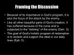 framing the discussion8