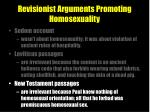revisionist arguments promoting homosexuality19