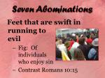 seven abominations15