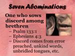 seven abominations18