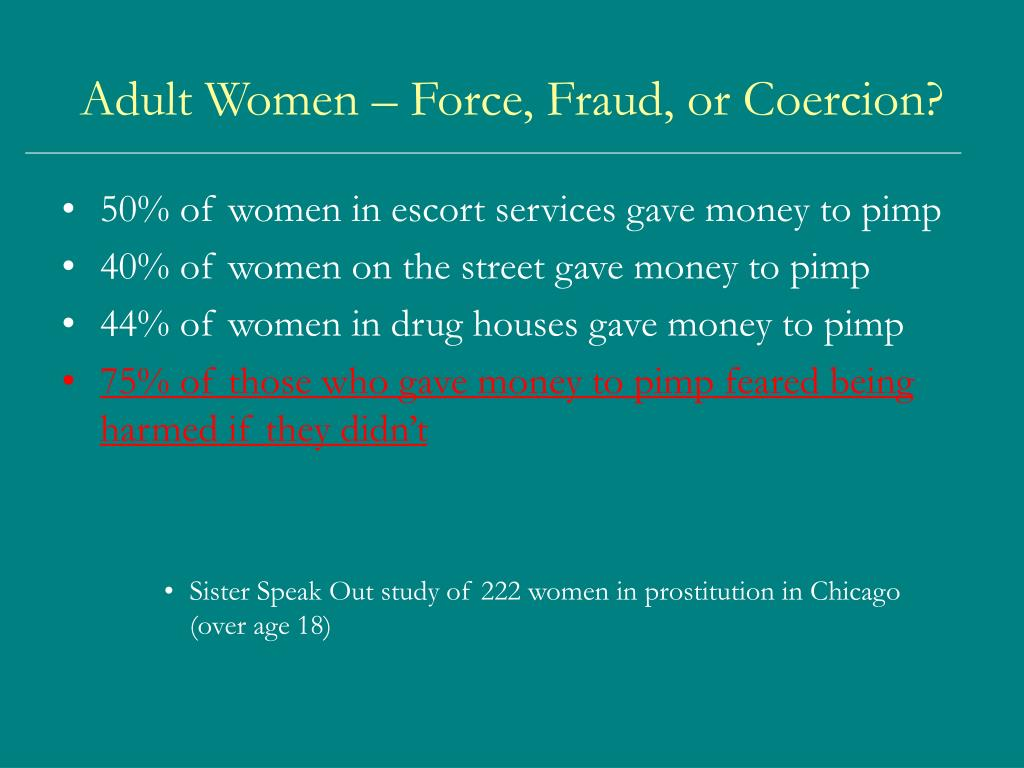 Adult Women – Force, Fraud, or Coercion?