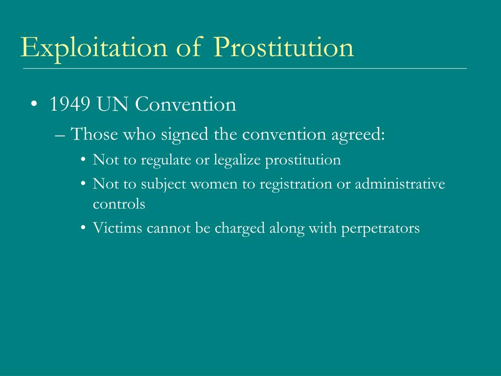 Exploitation of Prostitution