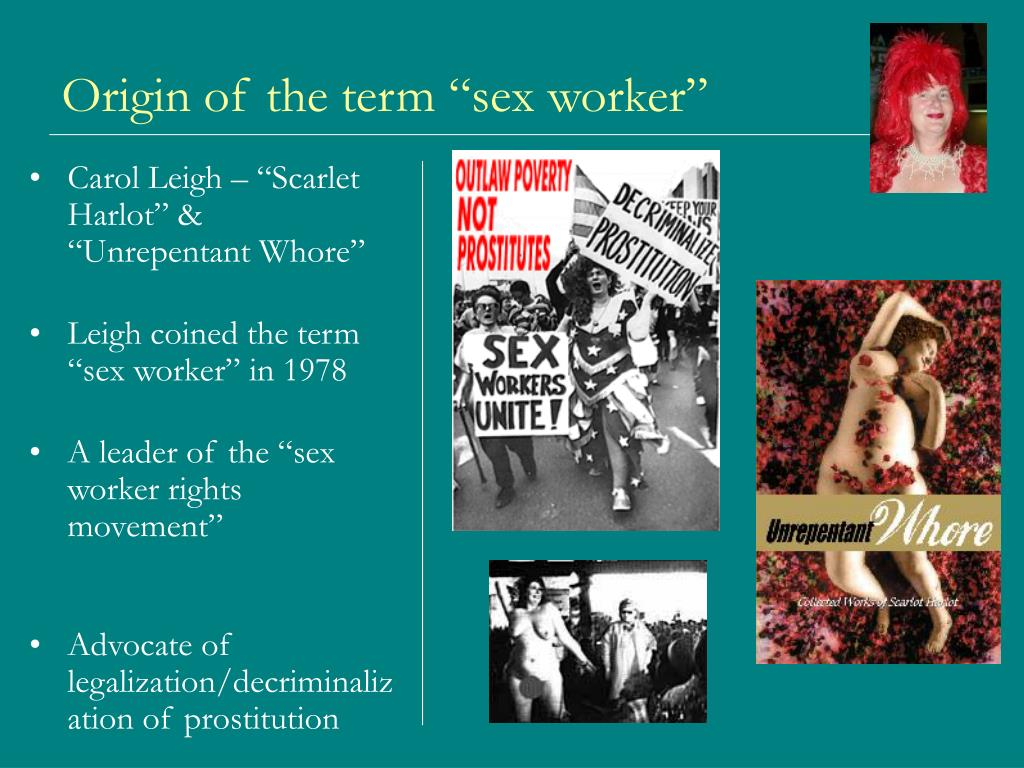 "Origin of the term ""sex worker"""