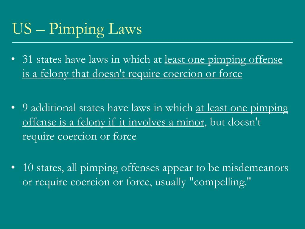 US – Pimping Laws