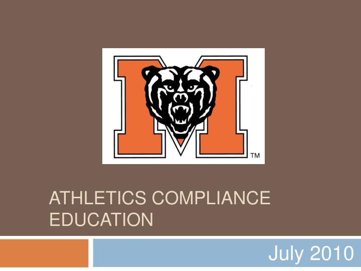 athletics compliance education n.