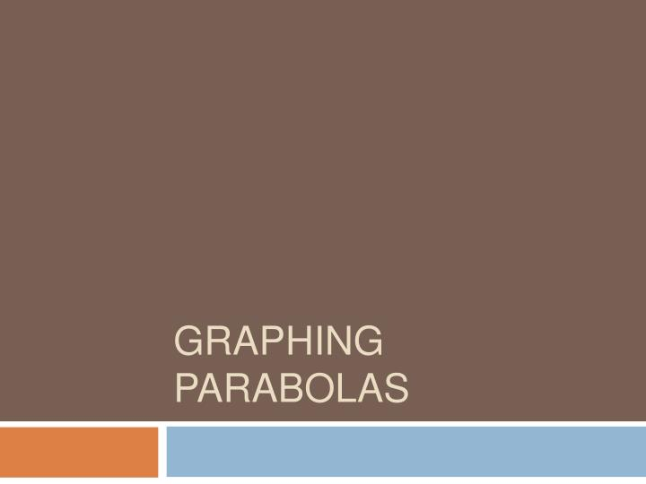 graphing parabolas n.