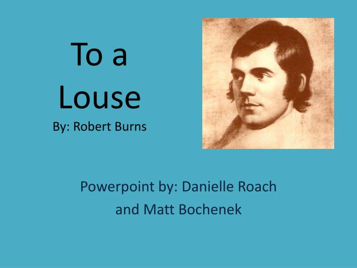 to a louse by robert burns n.