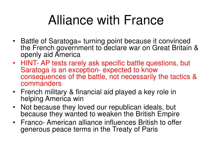 Alliance with France