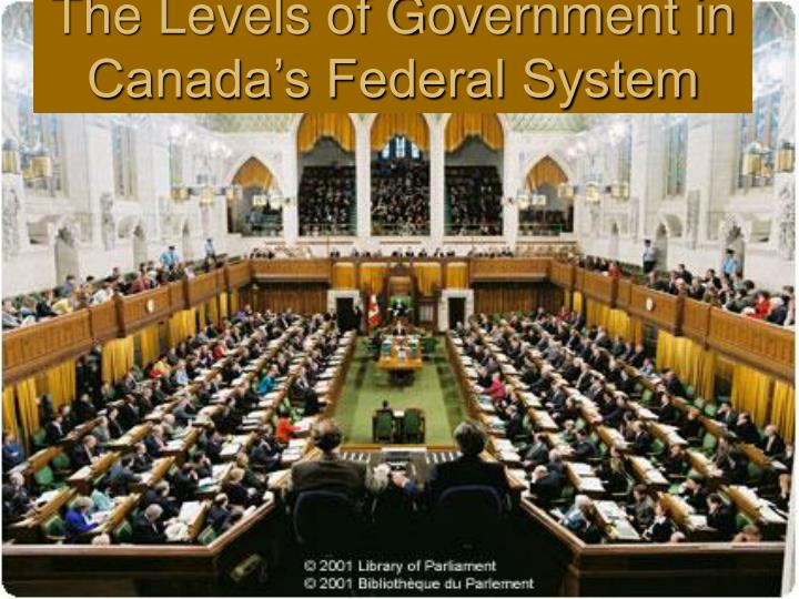 the levels of government in canada s federal system n.