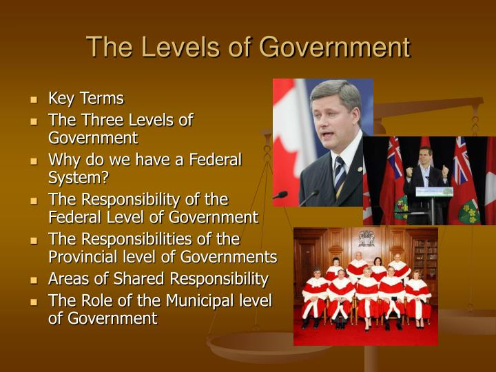 the federal level of government essay Under federalism, each level of government has sovereignty in some areas and shares powers in other areas for example: both the federal and state governments have the power to tax federalism and the federal system define the basic structure of american government.