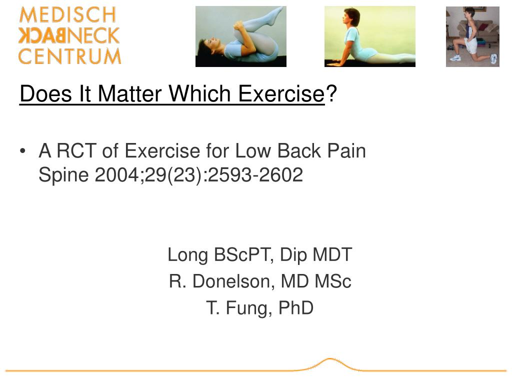 does it matter which exercise l.