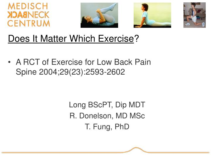 Does it matter which exercise