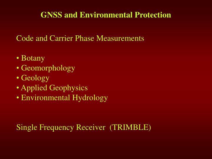 G ns s and environmental protection