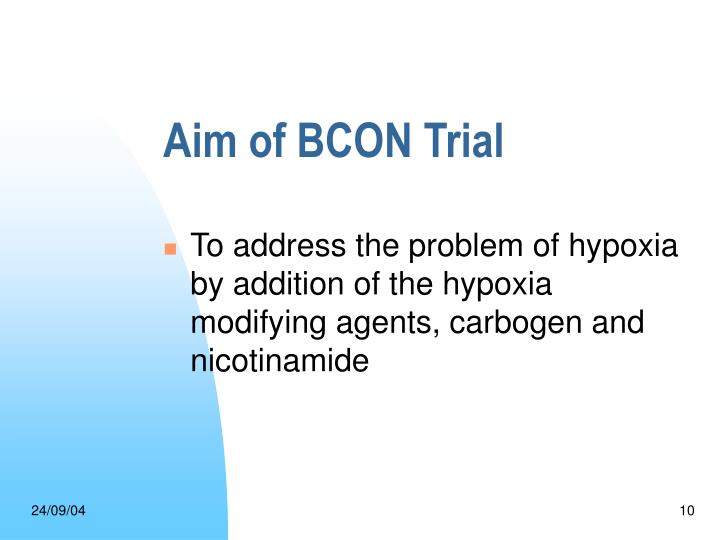 Aim of BCON Trial
