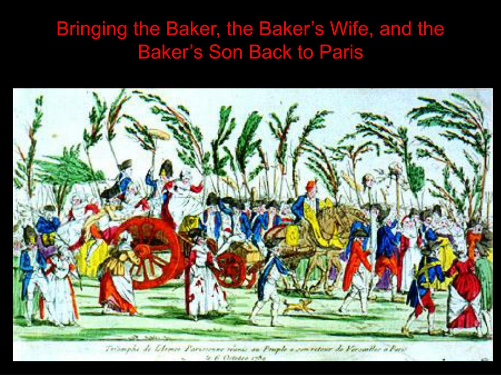 Bringing the Baker, the Baker's Wife, and the Baker's Son Back to Paris