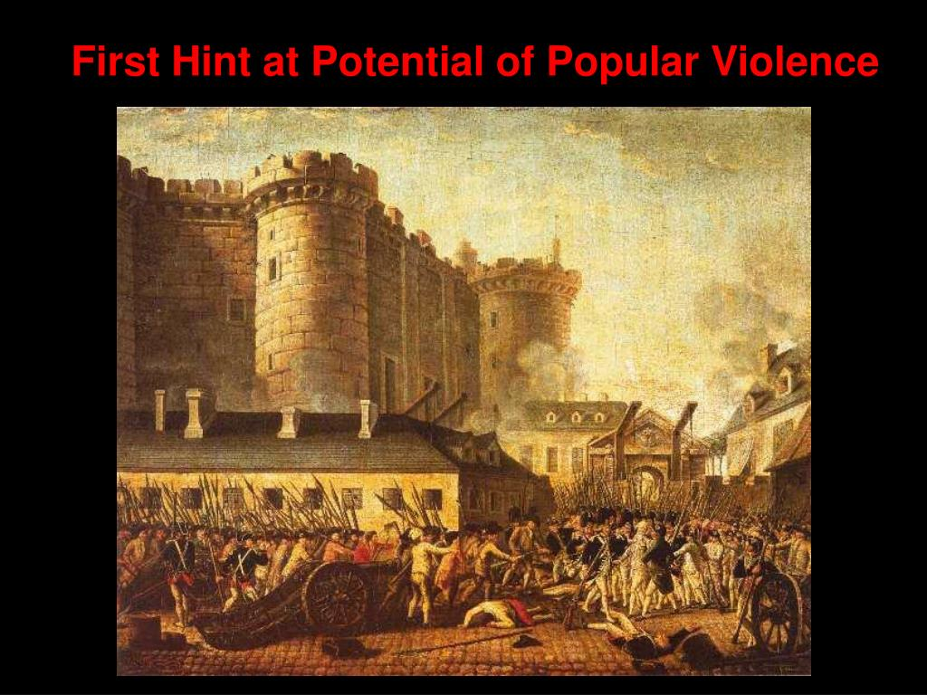 First Hint at Potential of Popular Violence
