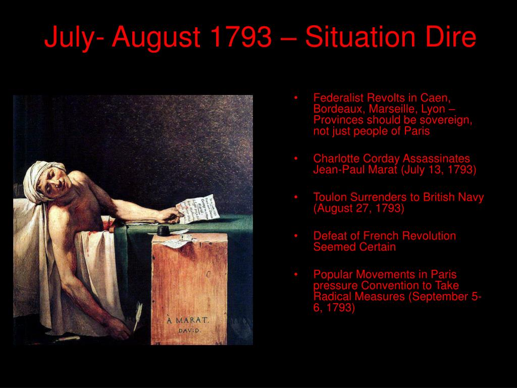 July- August 1793 – Situation Dire