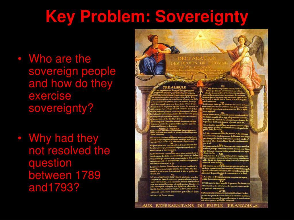 Key Problem: Sovereignty