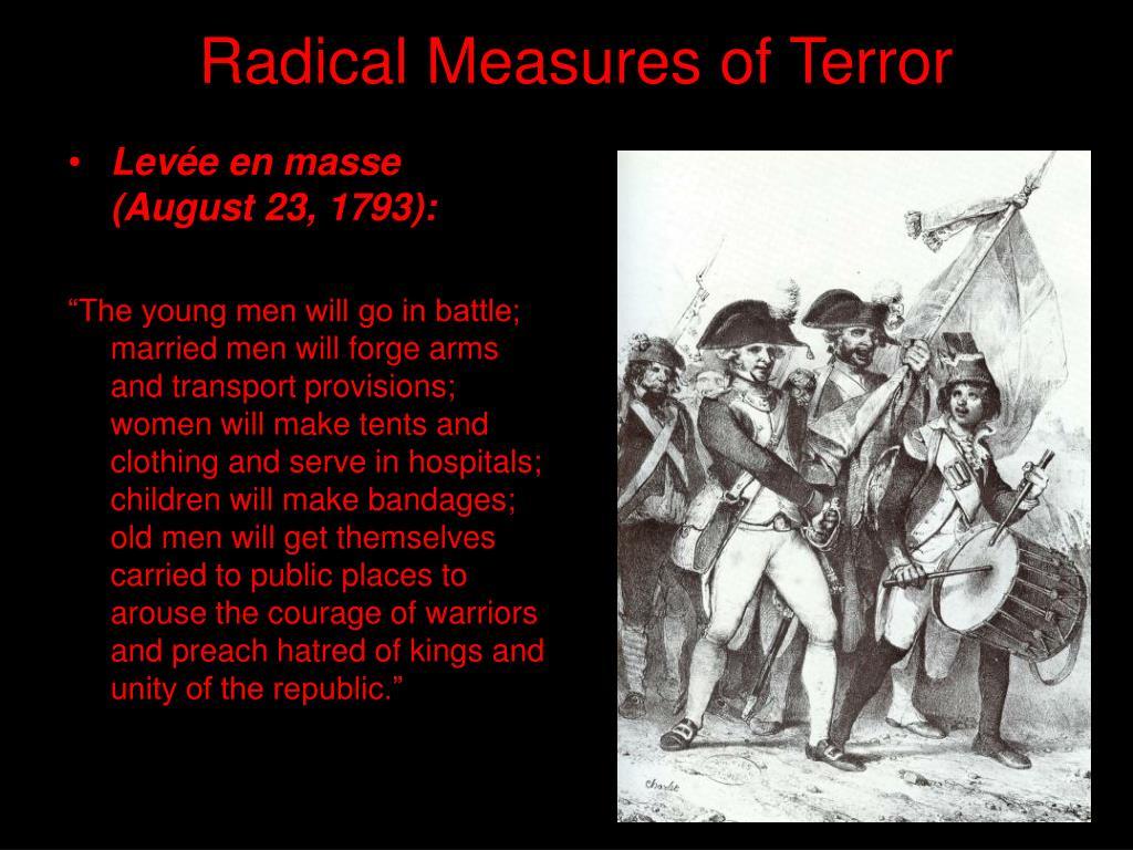 Radical Measures of Terror