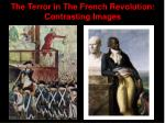 the terror in the french revolution contrasting images