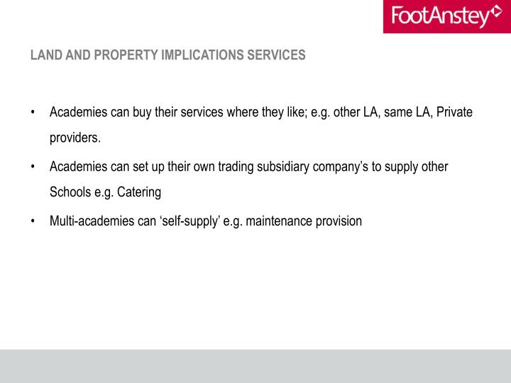 LAND AND PROPERTY IMPLICATIONS SERVICES
