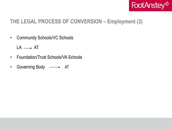 THE LEGAL PROCESS OF CONVERSION – Employment (3)