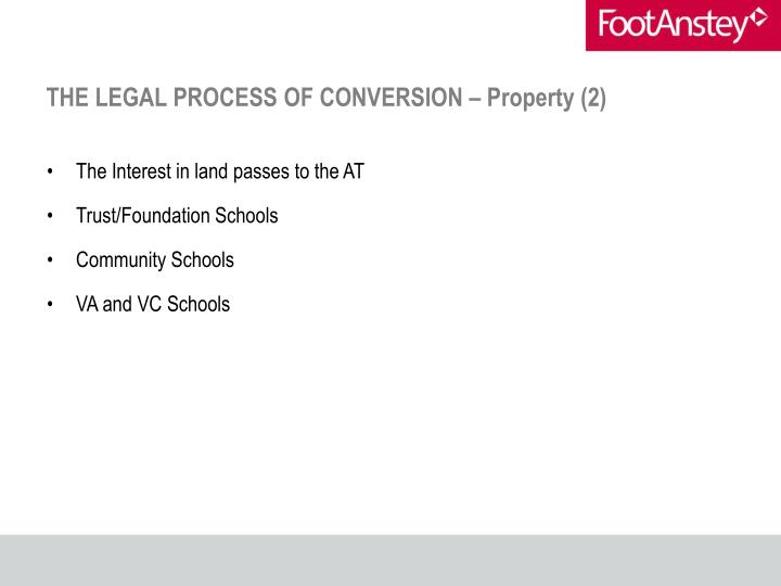 THE LEGAL PROCESS OF CONVERSION – Property (2)