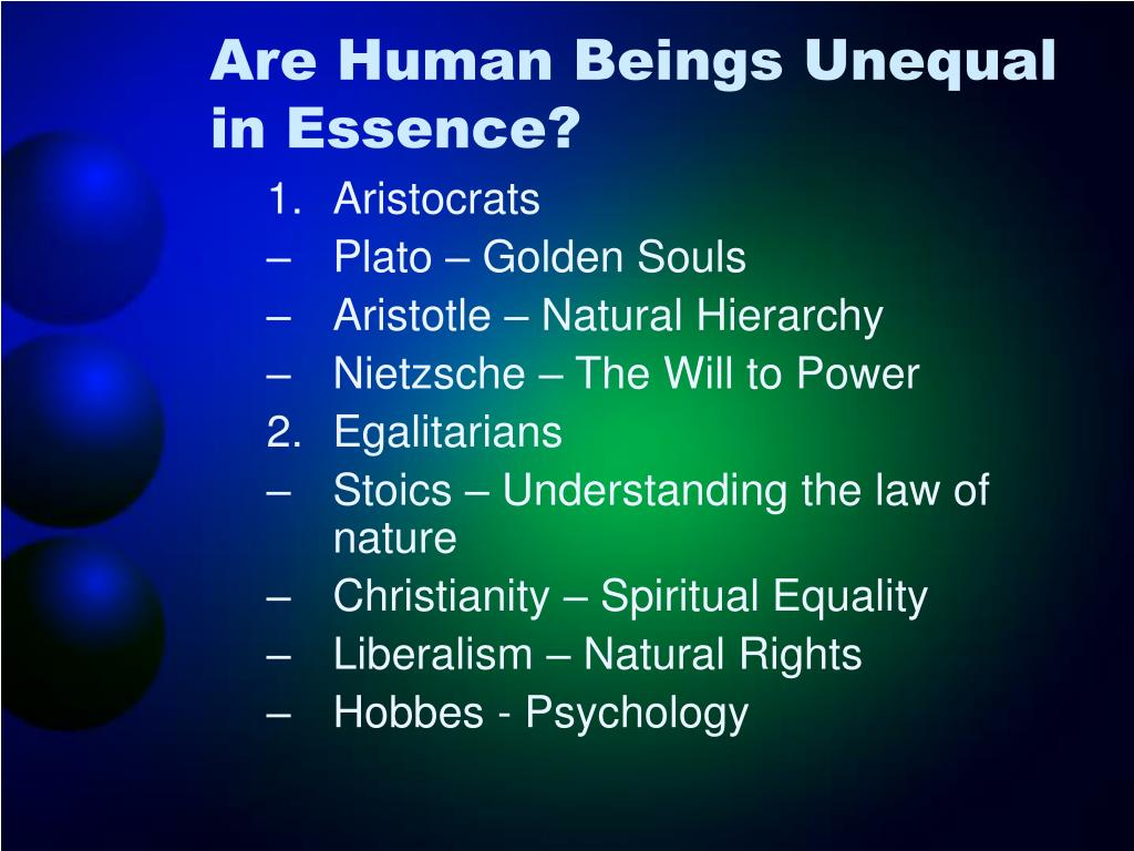 Are Human Beings Unequal in Essence?