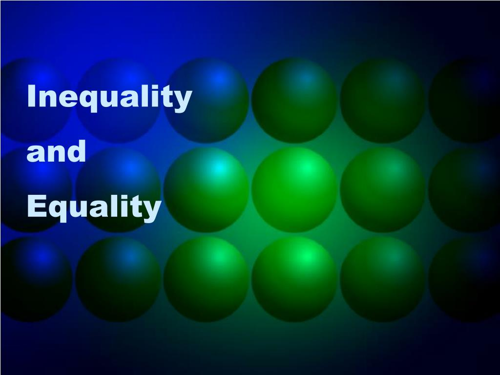 inequality and equality l.