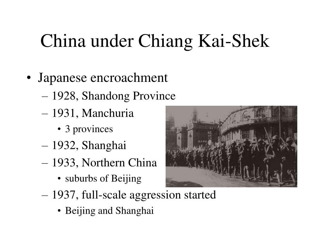 China under Chiang Kai-Shek