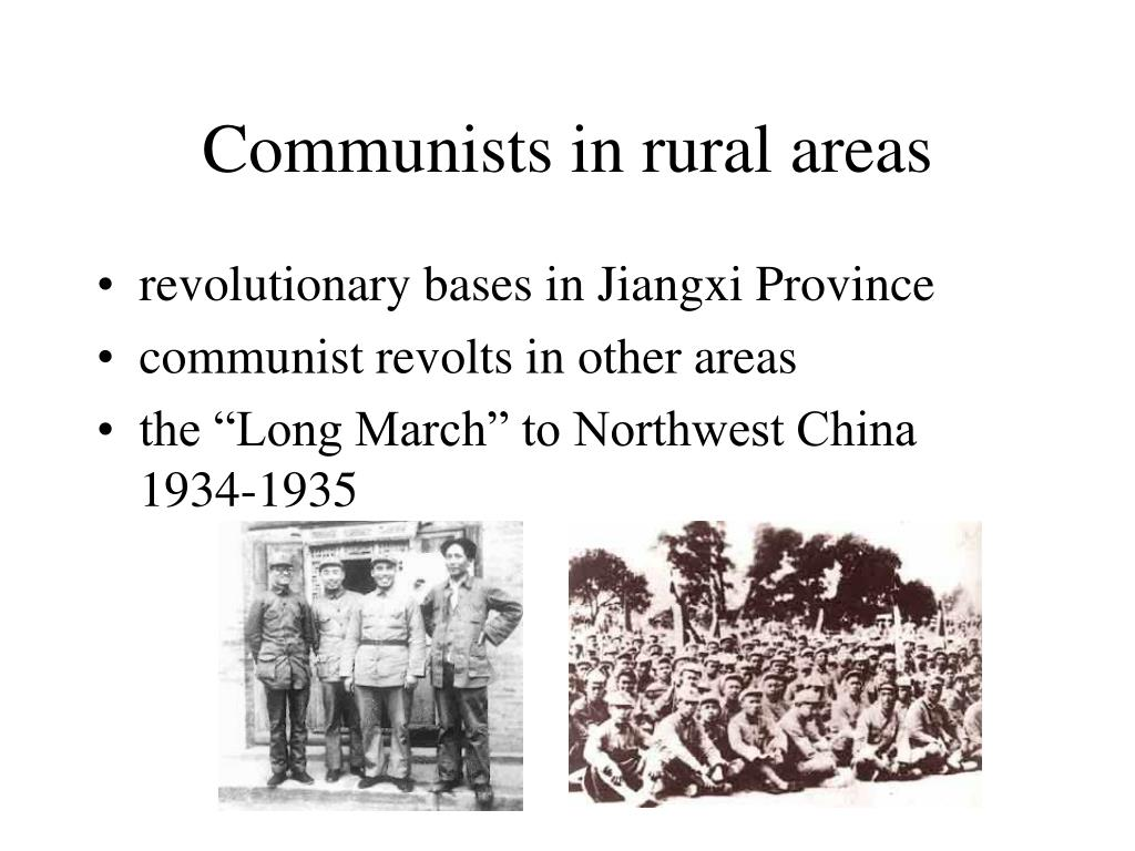 Communists in rural areas