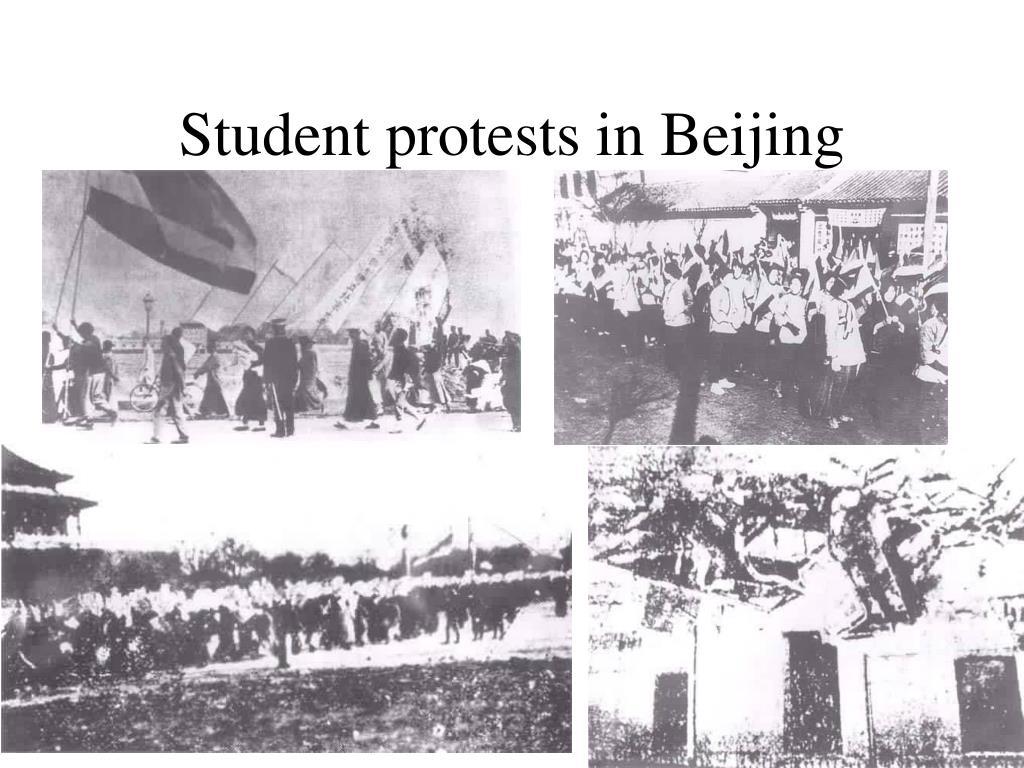 Student protests in Beijing
