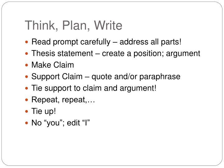 Think, Plan, Write