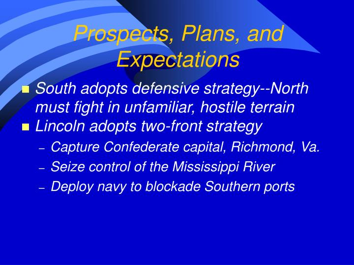Prospects, Plans, and Expectations