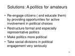 solutions a politics for amateurs