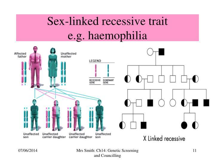 Sex-linked recessive trait