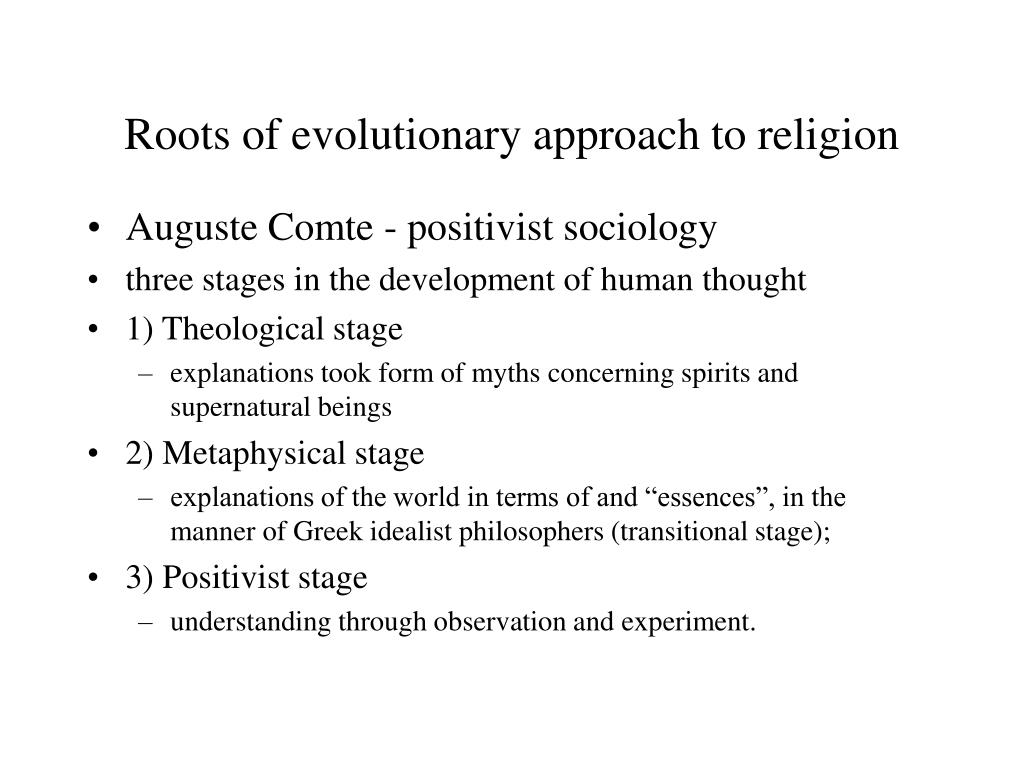 Roots of evolutionary