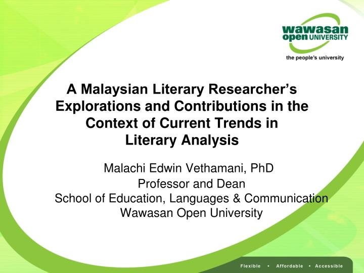 significance of malaysian literature in english english literature essay The study of literature in english can be an effective means for malaysian texts full and elective literature in english syllabus level full literature.