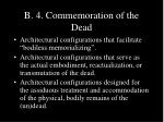 b 4 commemoration of the dead