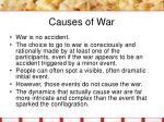 causes of war3