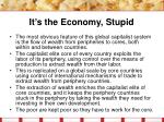 it s the economy stupid27