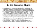 it s the economy stupid31