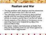 realism and war