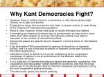 why kant democracies fight20