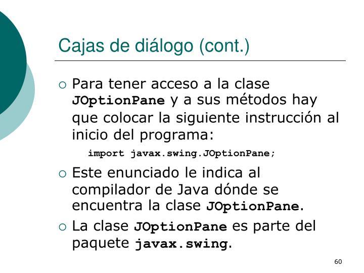 Cajas de diálogo (cont.)